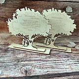 Darčeky pre svadobčanov - Poďakovanie rodičom - stromček - 9609052_