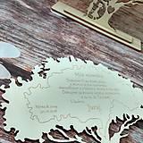 Darčeky pre svadobčanov - Poďakovanie rodičom - stromček - 9609053_