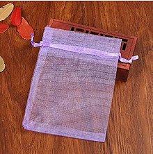 Obalový materiál - VO101 Organzové vrecúško 7 x 9 cm (svetlo fialové) - 9611438_