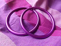 Polotovary - Fialové Ring Sling krúžky - 9609323_