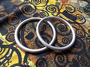 Polotovary - Strieborné Ring Sling krúžky - 9609295_