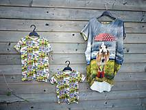 Detské oblečenie - Tričko - koník v daždi - 9609515_