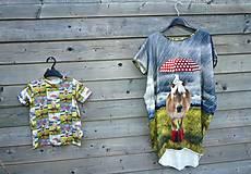 Detské oblečenie - Tričko - koník v daždi - 9609590_