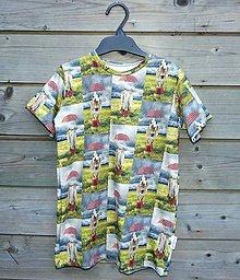 Detské oblečenie - Tričko - koník v daždi (128) - 9609588_