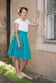 7ef35a233217 Sukne - Zavinovacia detská kruhová sukňa - smaragdová - 9610072