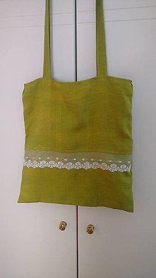 Veľké tašky - Pestrá zelená taška na plece - 9609206_