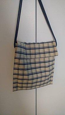 Veľké tašky - Ľanová taška na plece - 9609523_