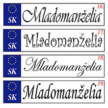 Drobnosti - Svadobná špz-plastová tabuľka - možnosť zmeny fontu, textu, bez SK znaku - 9609066_