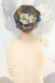 """Ozdoby do vlasov - Kvetinový hrebienok """"obchodník s dažďom"""" - 9610033_"""