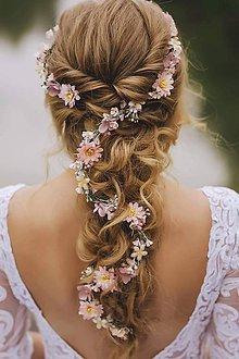 """Ozdoby do vlasov - Kvetinový pletenec """"zamotaná v snoch"""" - 9610362_"""