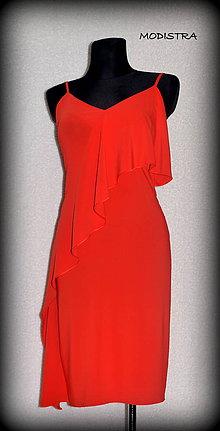 Šaty - Letné šaty s volánom-Zľava 20%! - 9610053_
