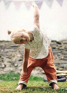 Detské oblečenie - Lněné kapsičkové zrzavé - 9610714_