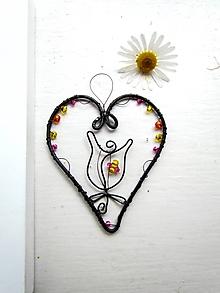 Dekorácie - kvietkové srdce - 9609377_