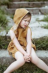 Detské čiapky - Ľanový čepček bez šiltíka (0-2 m - Hnedá) - 9614113_
