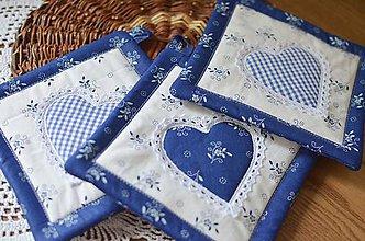 Úžitkový textil - Modrotlačové chňapky - 9613717_