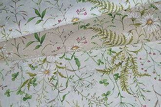 Textil - Látka Lúka na režnej alebo bielej - 9615312_