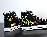 Obuv - reggae tenisky s notami - 9614897_