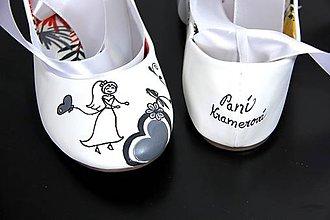Obuv - svadobné balerínky III. - 9614822_