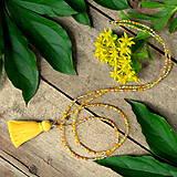Náhrdelníky - Zľava 5,90, na 3,90€ Tropica náhrdelník-žltý strapček - 9614930_