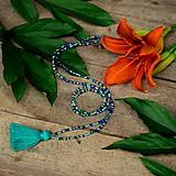 Náhrdelníky - Zľava 5,90, na 3,90€ Tropica náhrdelník-tyrkysový strapček - 9614967_