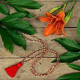 - Tropica náhrdelník-červený strapček - 9614983_