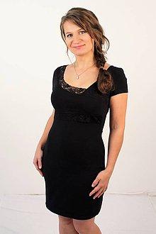 Tehotenské/Na dojčenie - 3v1 dojčiace púzdrové šaty s čipkou, veľ. XS-M - 9613118_