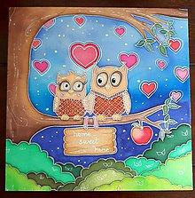 Dekorácie - Zamilované sovičky - 9612777_