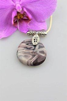 """Náhrdelníky - jaspis prívesok """"orchidea"""" - 9614399_"""