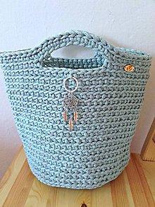 Veľké tašky - TOTE BAG svetlý mentol - 9612316_