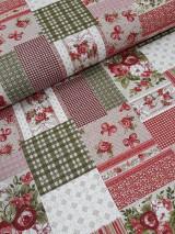 Textil - Látka vzor patchwork - 9613988_