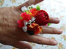 Prstene - prstienok na leto s kvietkami - 9614564_