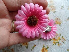 Náušnice - ružové kvietky-náušnice - 9614527_