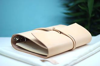 Papiernictvo - Naturálny kožený karisblok SOFTIN A5 - 9615096_