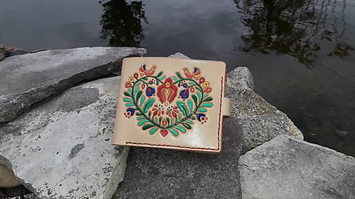 Kožená peňaženka ľudoví motív