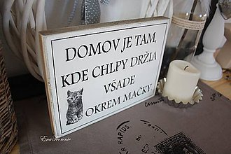 Tabuľky - Tabuľka Domov Mačkovitý - 9613285_