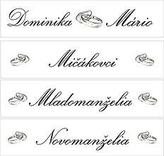 Tabuľky - Svadobná tabuľka na auto -  špz 17 - 9611993_