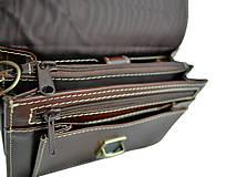Iné tašky - Praktická kožená etua, viacúčelové púzdro v hnedej farbe - 9612443_