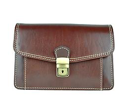 Iné tašky - Praktická kožená etua, viacúčelové púzdro v hnedej farbe - 9612438_