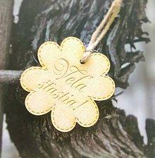 Darčeky pre svadobčanov - Štvorlístok s nápisom (Veľa šťastia) - 9614521_