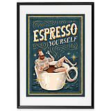 Grafika - Art-Print Espresso Yourself A4 - 9612849_