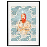 Grafika - Art-Print Sailor Dead Fish A3 - 9612899_