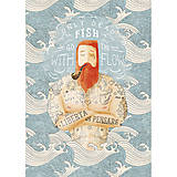 Grafika - Art-Print Sailor Dead Fish A3 - 9612900_