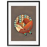 Grafika - Art-Print Sleeping Foxy A4 - 9612907_