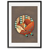 Grafika - Art-Print Sleeping Foxy A3 - 9612911_