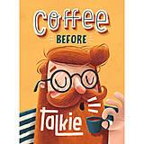 Grafika - Art-Print Coffee before Talkie A4 - 9612914_