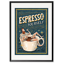 Grafika - Art-Print Espresso Yourself A4 - 9612849_