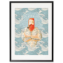 Grafika - Art-Print Sailor Dead Fish A4 - 9612897_