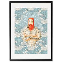 Grafika - Art-Print Sailor Dead Fish A3 - 9612899_