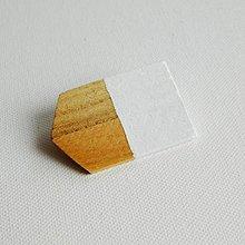 Odznaky/Brošne - brošňa Cut's.1 biela - 9615531_