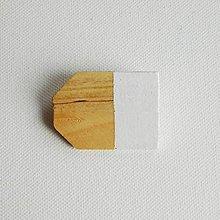 Odznaky/Brošne - brošňa Cut's.2 biela - 9615574_